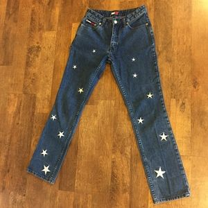 Rare 90s Tommy Hilfiger Embroidery Jeans (size 3)